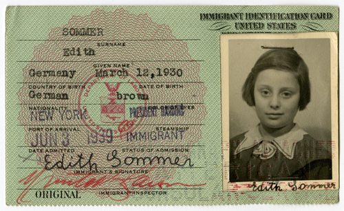 Edith-Sommer-immigration-card_